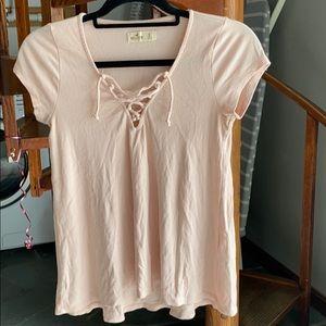 Hollister Tie Up Short Sleeve Shirt